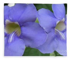 Purple Flower Picture Perfect Fleece Blanket