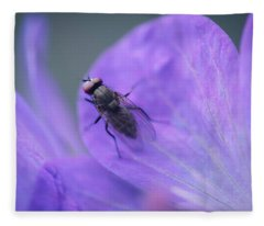 Purple Fly Fleece Blanket