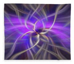 Purple Gold Colored Abstract. Concept Spirituality Fleece Blanket