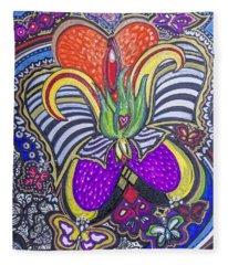Purple Growth Fleece Blanket