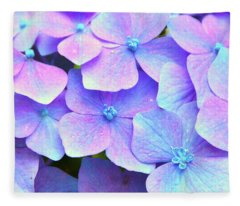 Purple Hydrangeas Fleece Blanket