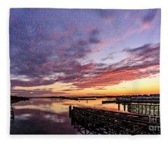 Purple Icw Fleece Blanket