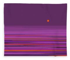 Purple In The Moonlight Fleece Blanket