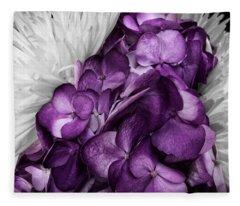 Purple In The White Fleece Blanket