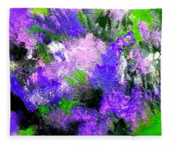 Purple Lilacs Fleece Blanket
