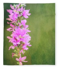 Purple Loosestrife Textured Fleece Blanket