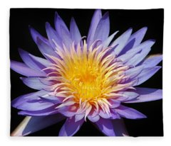 Purple Lotus Fleece Blanket