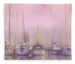Purple Marina Morning Fleece Blanket