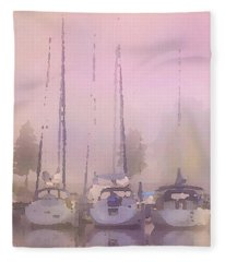 Purple Marina Morning Fleece Blanket
