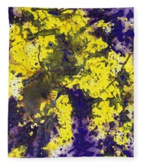 Purple Married Yellow Fleece Blanket