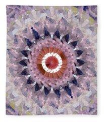 Purple Mosaic Mandala - Abstract Art By Linda Woods Fleece Blanket
