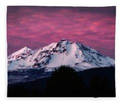 Purple Mountain Majesty Fleece Blanket