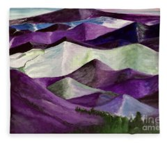 Purple Mountains Majesty Fleece Blanket