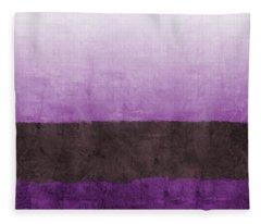Purple On The Horizon- Art By Linda Woods Fleece Blanket