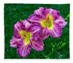 Purple Pair Fleece Blanket