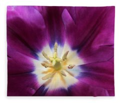 Purple Passion Tulip Fleece Blanket