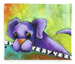 Purple Pup Fleece Blanket