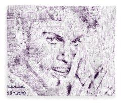 Purple Rain By Prince Fleece Blanket