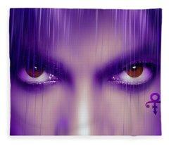 Purple Rain Purple Rain Fleece Blanket