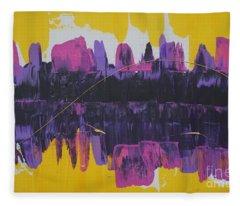 Purple Reflections Fleece Blanket
