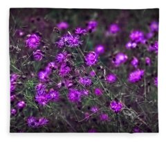 Purple Stars Fleece Blanket