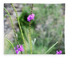 Purple Vebena Fleece Blanket