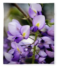 Purple Wisteria Fleece Blanket