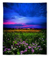 Purples Fleece Blanket