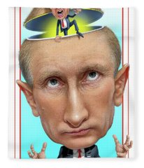 Putin 2016 Fleece Blanket