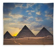 Pyramid Fleece Blanket