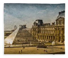 Paris, France - Pyramide Fleece Blanket