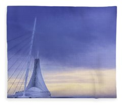 Quadracci Pavilion Sunrise Fleece Blanket