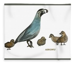 Quail Family Fleece Blanket