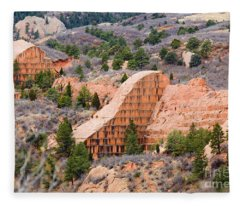 Quarry At Red Rock Canyon Colorado Springs Fleece Blanket