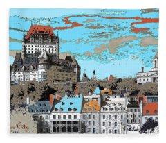 Quebec City Canada Poster Fleece Blanket