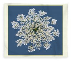 Queen Anne's Lace Flower Fleece Blanket