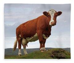 Queen Of The Mountain Fleece Blanket