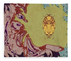 Queen Scarab Fleece Blanket