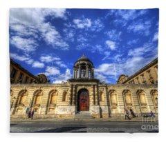 Queens College - Oxford Fleece Blanket