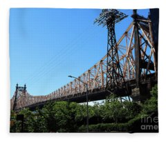 Queensborough Ed Koch Bridge Fleece Blanket