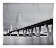 Queensferry Crossing Bridge Mono Fleece Blanket