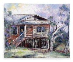 Queenslander Style House, Cloncurry. Fleece Blanket