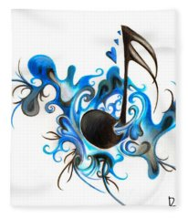 Quenched By Music Fleece Blanket