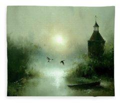 Quiet Abode Fleece Blanket