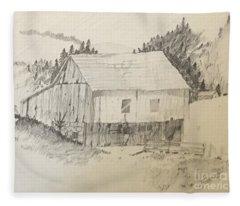 Quiet Barn Fleece Blanket