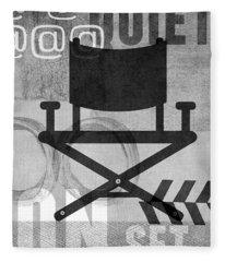 Quiet On Set- Art By Linda Woods Fleece Blanket