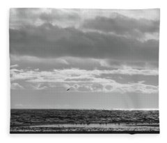 Quiet Shores After The Storm Fleece Blanket