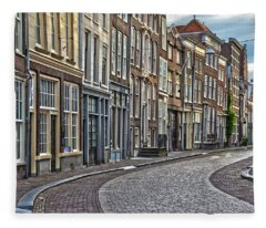 Quiet Street In Dordrecht Fleece Blanket