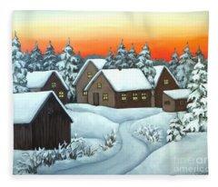 Quiet Winter Night Fleece Blanket