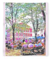 Quincy Market, Boston Massachusetts, Poster Image Fleece Blanket